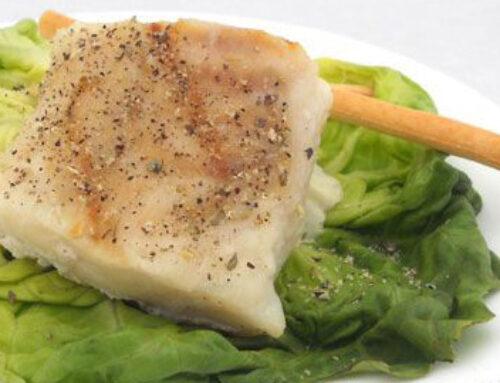 Lemon Herb Cod on Lettuce